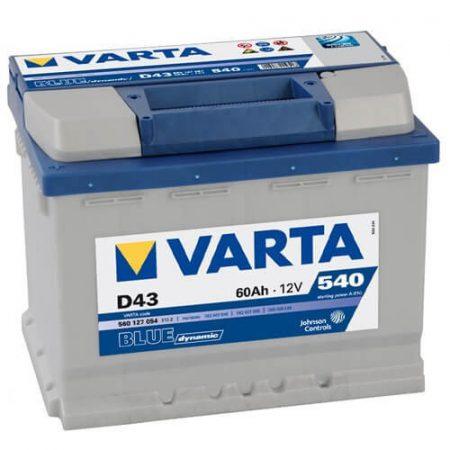Varta Blue Dinamic 12V 60Ah 540A 560127 autó akkumulátor bal+ (+AJÁNDÉK!)