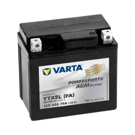 Varta YTX5L-BS 12V 4Ah motorkerékpár akkumulátor (+AJÁNDÉK!)