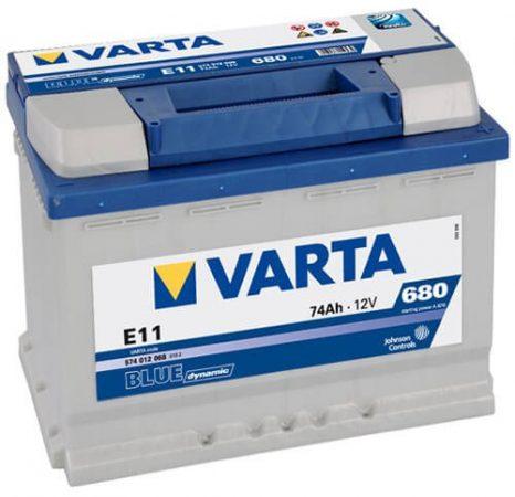 Varta Blue Dinamic 12V 74Ah 680A 574012 autó akkumulátor jobb+ (+AJÁNDÉK!)