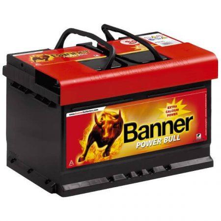 Banner Power Bull 12V 74Ah 680A P7412 autó akkumulátor jobb+ (+AJÁNDÉK!)