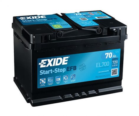 Exide Start-Stop EFB EL700 autó akkumulátor 12V 70Ah 630A JOBB+
