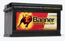 Banner Running Bull 12V 80Ah autó akkumulátor AGM 580 01 jobb+ (+AJÁNDÉK!)