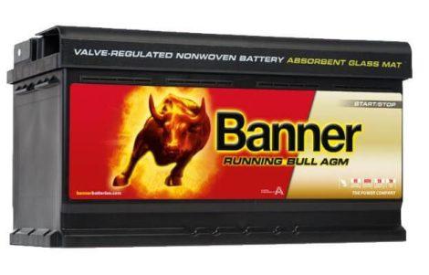 Banner Running Bull 12V 92Ah autó akkumulátor AGM 592 01 jobb+