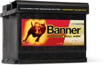 Banner Running Bull 12V 60Ah autó akkumulátor AGM 56001 jobb+
