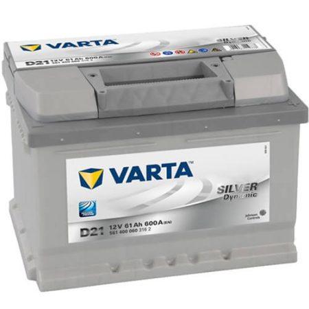 Varta Silver Dinamic 12V 61Ah 600A 561400 autó akkumulátor jobb+ (+AJÁNDÉK!)