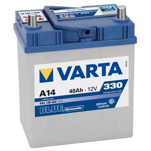Varta Blue Dinamic 12V 40Ah 330A Asia autó akkumulátor jobb+