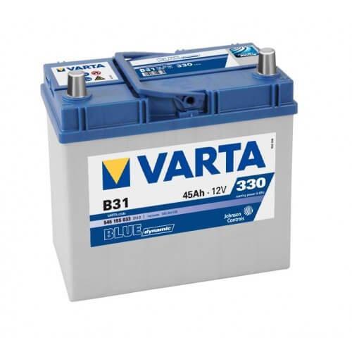 Varta Blue Dinamic 12V 45Ah 330A Asia autó akkumulátor jobb+