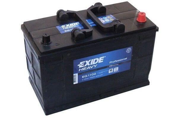EXIDE HEAVY PRO EG1102 12V 110Ah teherautó akkumulátor jobb+