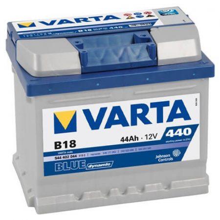 Varta Blue Dinamic 12V 44Ah 440A autó 544402 akkumulátor jobb+
