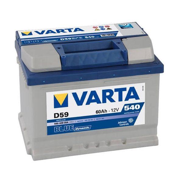 Varta Blue Dinamic 12V 60Ah 540A 560409 autó akkumulátor jobb+