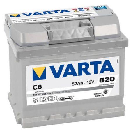 Varta Silver Dinamic 12V 52Ah 540A 552401 autó akkumulátor jobb+ (+AJÁNDÉK!)