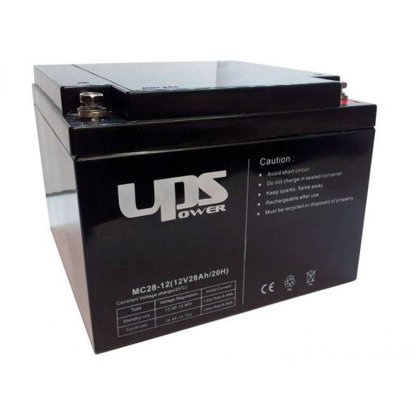 UPS Power 12V 28Ah zselés akkumulátor (MC28-12)