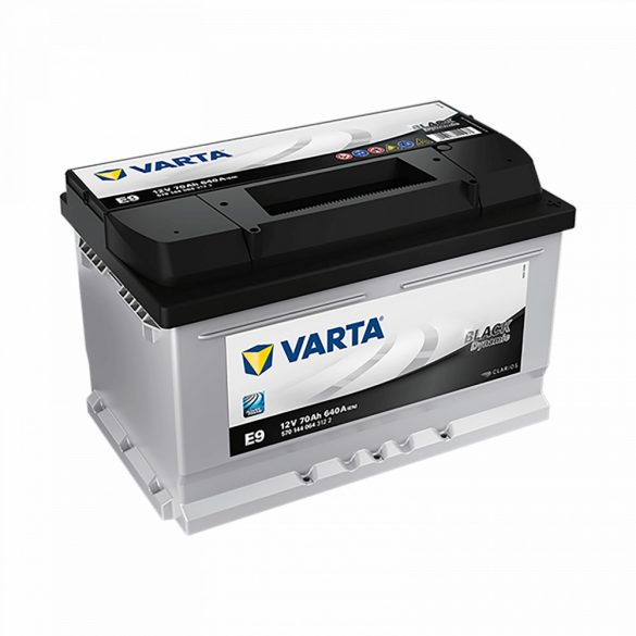 VARTA 12V 70Ah 640A E9 Black Dynamic akku 570144 J+ 278175175mm