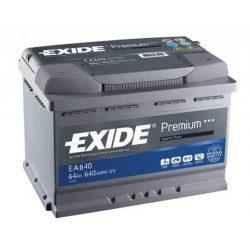 EXIDE Premium EA640 64Ah 640A autó akkumulátor jobb+
