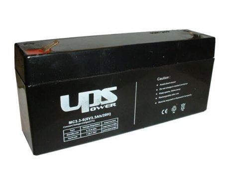 UPS Power 6V 3,3Ah zselés akkumulátor (MC3.3-6)