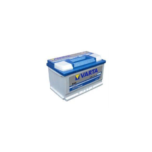 Varta Blue Dinamic 12V 72Ah 680A autó 572409 akkumulátor jobb+