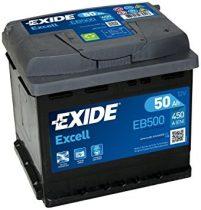 EXIDE Excell EB500 50Ah 450A autó akkumulátor jobb+ (+AJÁNDÉK!)