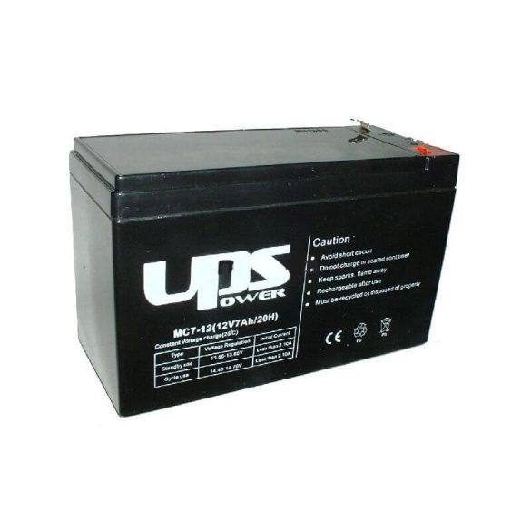 UPS Power 12V 7Ah zselés akkumulátor (MC7-12)