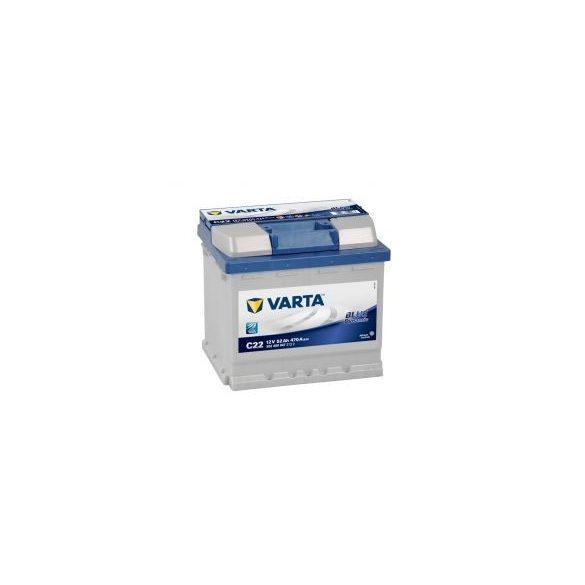 Varta Blue Dynamic C22 12V 52Ah autó akkumulátor 552400 jobb+