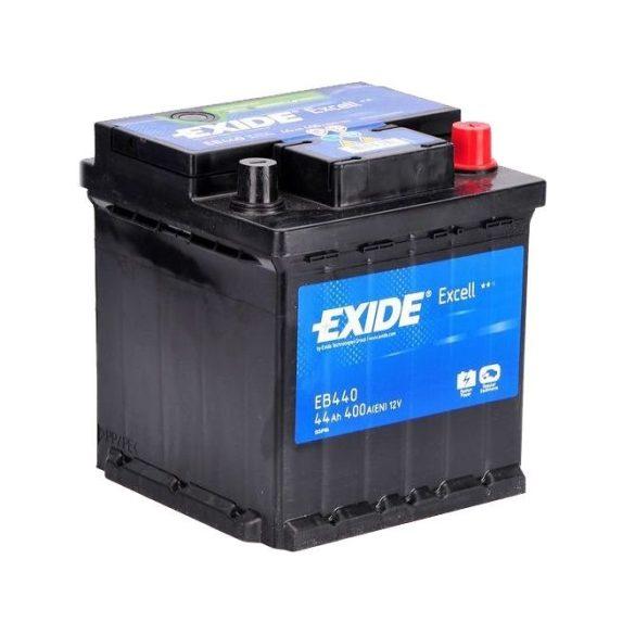 EXIDE Excell EB440 44Ah 400A autó akkumulátor jobb+