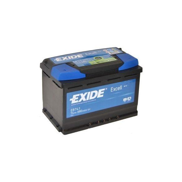 EXIDE Excell EB741 74Ah 680A autó akkumulátor bal+