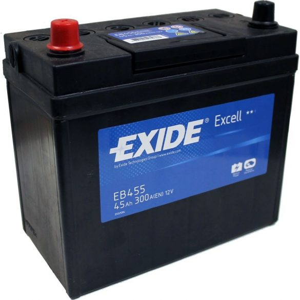 EXIDE Excell EB455 45Ah 300A ASIA autó akkumulátor bal+