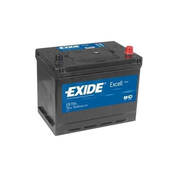 EXIDE Excell EB704 70Ah 540A ASIA autó akkumulátor jobb+