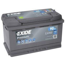 EXIDE Premium EA900 90Ah 720A autó akkumulátor jobb+