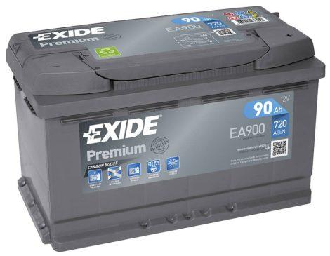 EXIDE Premium EA900 90Ah 720A autó akkumulátor jobb+ (+AJÁNDÉK!)
