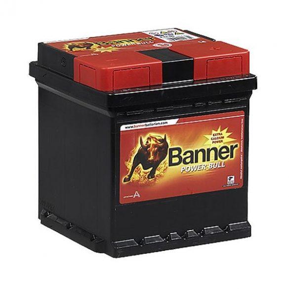 Banner Power Bull 12V 42Ah 390A P4208 autó akkumulátor jobb+