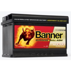 Banner Running Bull 12V 70Ah autó akkumulátor AGM 570 01 jobb+