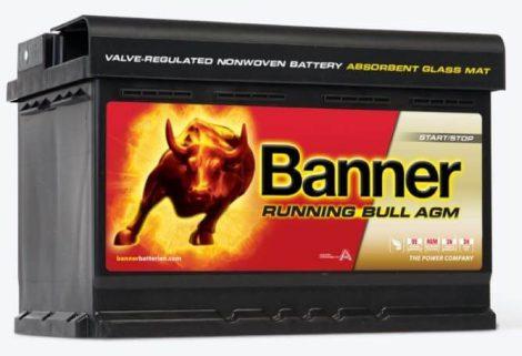 Banner Running Bull 12V 70Ah autó akkumulátor AGM 570 01 jobb+ (+AJÁNDÉK!)