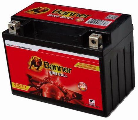 Banner GTZ14-4 12V 11Ah motorkerékpár akkumulátor (+AJÁNDÉK!)