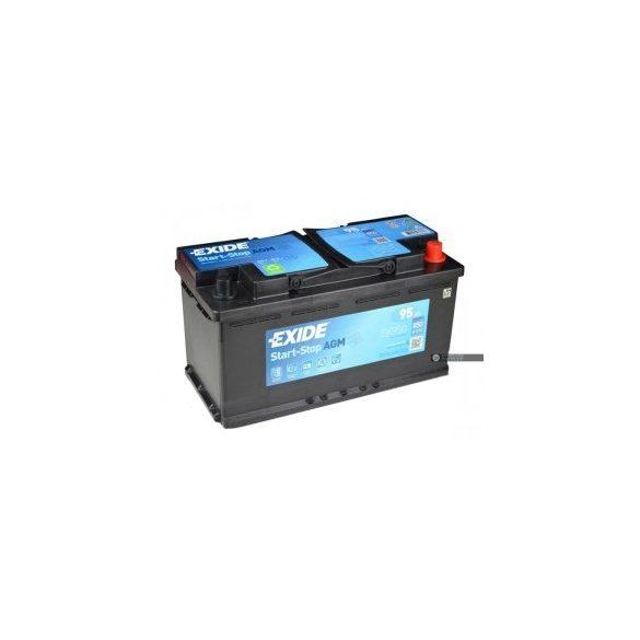 EXIDE Start-Stop AGM EK950 12V 95Ah autó akkumulátor jobb+