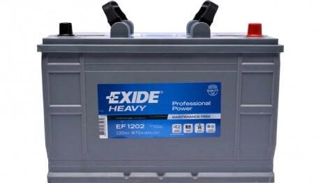 EXIDE HEAVY EF1202 12V 120Ah TRUCK autó akkumulátor jobb+ (+AJÁNDÉK!)