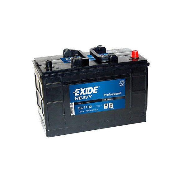 EXIDE HEAVY PRO EG1100 12V 110Ah autó akkumulátor jobb+