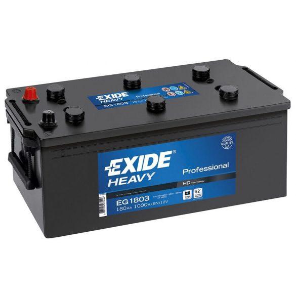 EXIDE HEAVY PRO EG1803 12V 180Ah teherautó akkumulátor bal+
