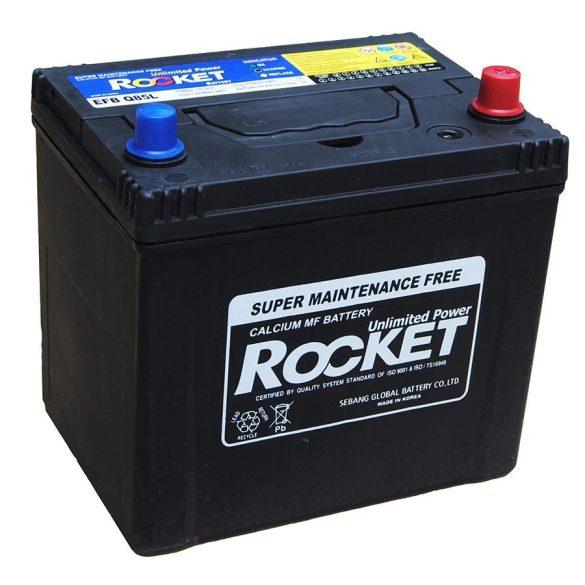 Rocket Start-Stop 65Ah 12V autó akkumulátor Q85L ASIA jobb+
