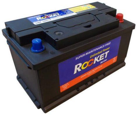 Rocket 80Ah 12V autó akkumulátor 58014 jobb+