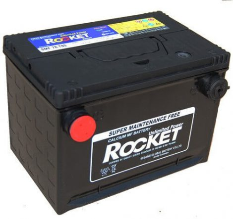 Rocket USA oldalcsavaros 74Ah 12V autó akkumulátor SMF 78-780 (+AJÁNDÉK!)