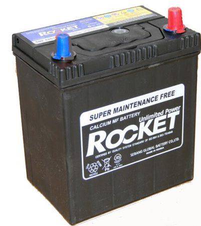 Rocket 40Ah 12V autó akkumulátor 42B19L ASIA vékonysaru jobb+