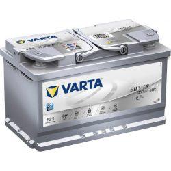 80Ah Silver Dynamic F21 12V AGM start-stop autó akkumulátor 580 901 080