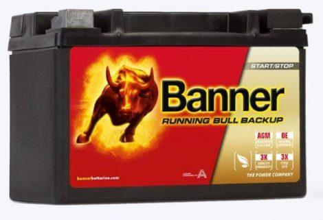 Banner Running Bull Backup 12V 9Ah autó akkumulátor 509 00 AUX 09 bal+ (+AJÁNDÉK!)