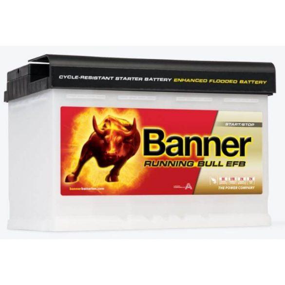 Banner Running Bull EFB 12V 70Ah autó akkumulátor EFB 570 00 jobb+