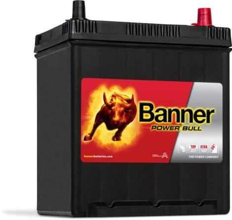 Banner Power Bull 12V 40Ah autó akkumulátor P4025 ASIA jobb+ (+AJÁNDÉK!)