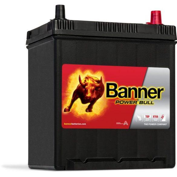 Banner Power Bull 12V 40Ah autó akkumulátor P4025 ASIA jobb+
