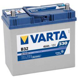 Varta Blue Dinamic 12V 45Ah 330A B32 Asia 545156 autó akkumulátor jobb+