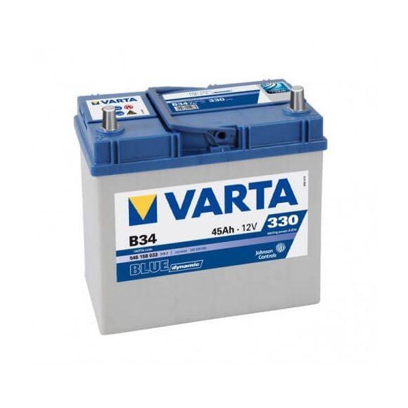 VARTA 12V 45Ah 330A B34 Blue Dynamic ASIA akkumulátor 545158 bal+