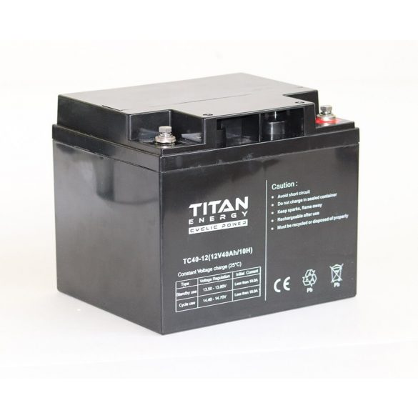 TitanEnergy CyclicPower 12V 40Ah akkumulátor TC40-12