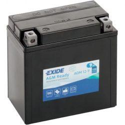 Exide AGM12-9 12V 9Ah motorkerékpár akkumulátor 12V 9Ah 120A  bal+